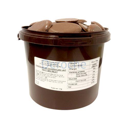 Chocolat de couverture au lait - haïti 38%