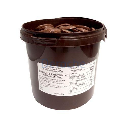 Chocolat de couverture au lait - équateur 38%