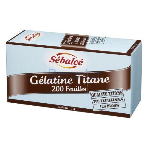 Gélatine titane 200 feuilles