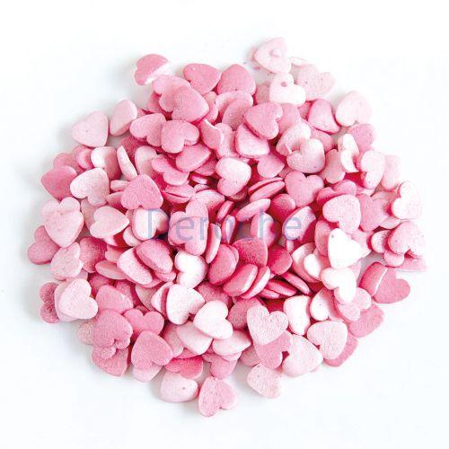 Décor coeur scintillant - en sucre
