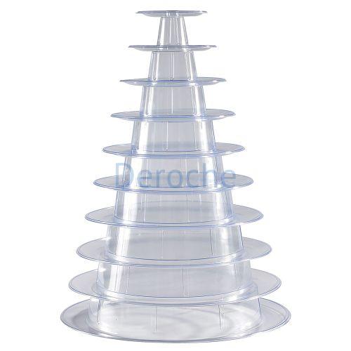 Pyramide à macarons version transparente