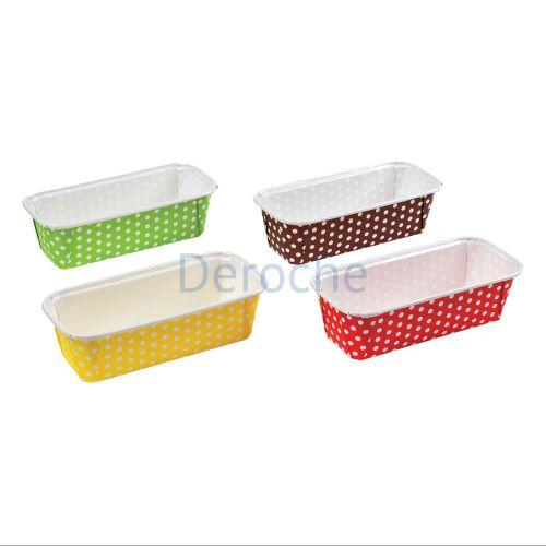 Caissettes à pois pour cake - 4 couleurs
